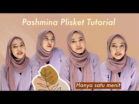 TUTORIAL HIJAB PASHMINA PLISKET   4 style - YouTube