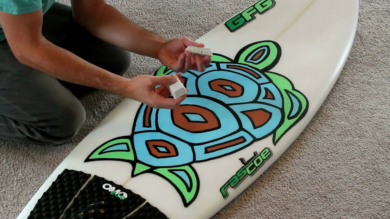 How To Wax A Surfboard Perfectly In A Few Minutes YouTube