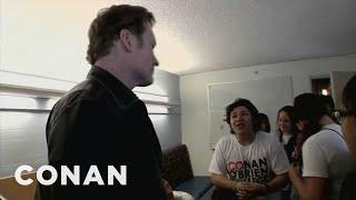 """Conan Visits """"Conan O'Brien College"""" - CONAN on TBS"""