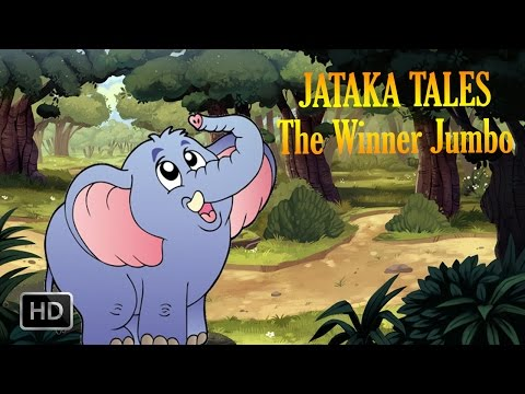 Jataka Tales - The Winner Jumbo - Short Stories For Children - Animated   Cartoon Stories For Kids video