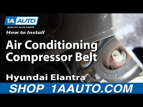 How To Install replace The Air Conditioning Compressor Belt 2001-06 Hyundai Elantra 2.0L