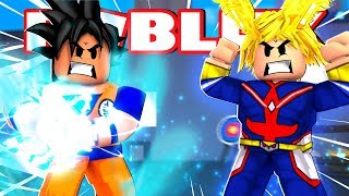 GOKU VS ALL MIGHT - Roblox Anime Tycoon
