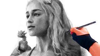 Is This is how you draw Daenerys mother of dragons?!! Charcoal