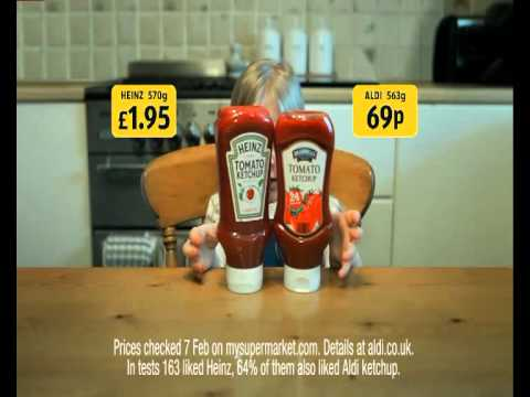 Aldi - Ketchup - nicer than boys! I don t like boys!