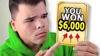 SCRATCH CARD CHALLENGE! (I Won $6,000!!)