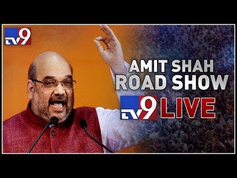 Amit Shah Roadshow LIVE || Kalwakurthy || Telangana Elections 2018 - TV9