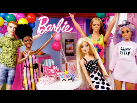 Barbie Doll Birthday Surprise Party in the Dreamhouse - Titi Toys Dolls