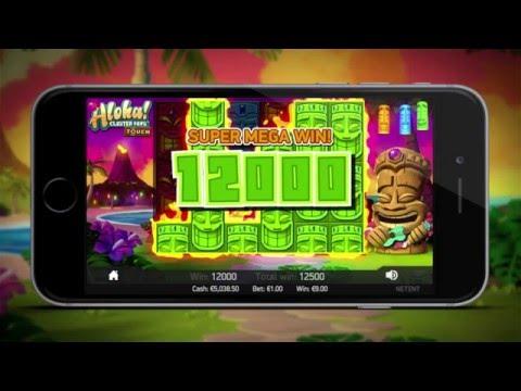 Игровой слот Aloha Cluster Pays от NetEnt | Touch