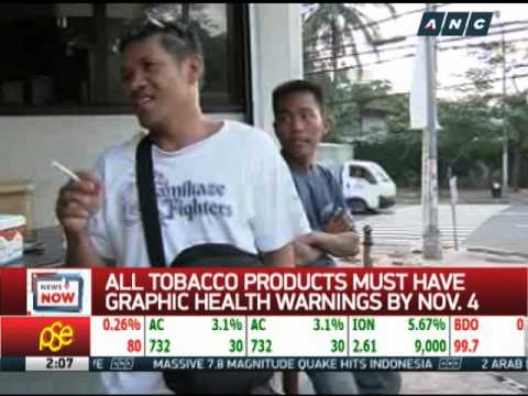 Tobacco firms told to comply with graphic health warnings law