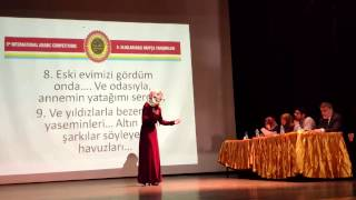 """Arapça Şiir Yarışması 2017 İl Finalleri """"il 2.'si Kübra Sarıbey"""" HD"""