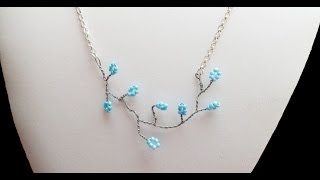 PandaHall Jewelry Making Tutorial Video--How to Make Twisted Wire Flowering Branch Necklace