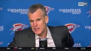 Coach Billy Donovan on Thunder's Struggles & Loss vs Raptors! March 20 2019
