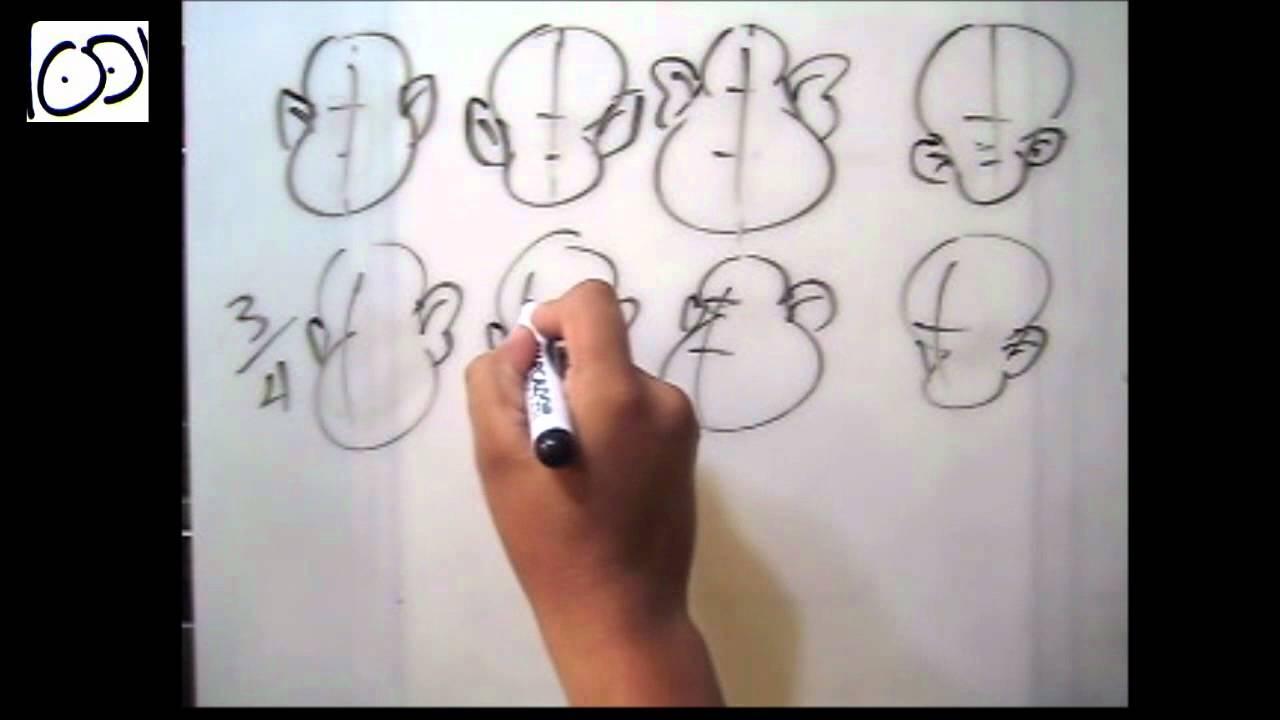 Dibujar Cabeza De Frente, 3/4, Perfil ( Por: Cartoonarte )
