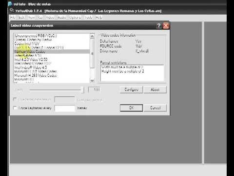 Como comprimir videos con virtualdub