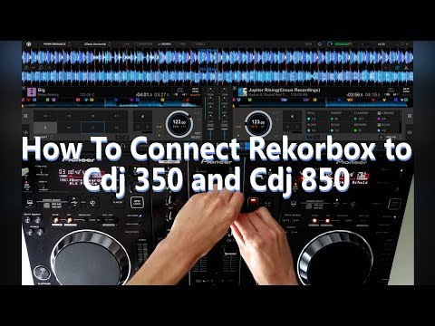 How To Connect Pioneer Rekordbox To Pioneer Cdj 350 and CDj 850📀