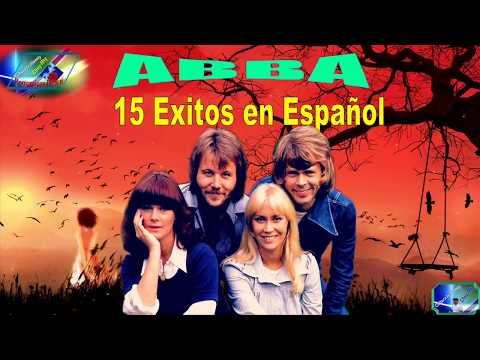 ABBA - 15 Grandes Exitos De Oro, Romanticas Español, De Antaño Mix