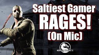 THE SALTIEST GAMER EVER RAGE QUITS   Mortal Kombat X