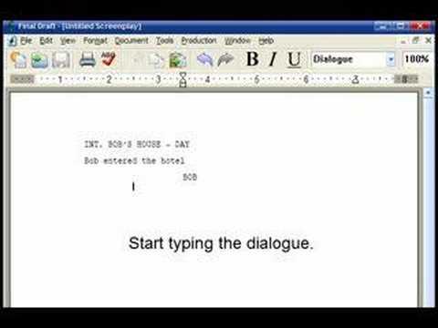 FinalDraft Tutorial - Writing a Basic Movie Script