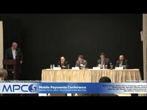 Analysts Panel - Mobile Payments Conference Fall 2012