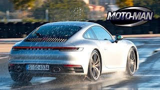 Driving the 2020 Porsche 911 Carrera (992) on a wet race track: Does wet mode work? TECH REVIEW