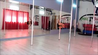 Pole dance chorégraphie (technique avec combo)