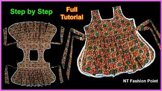 DIY | 2 Side Open Baby Dress | Super Creative Designer Baby Frock | Cutting and Stitching