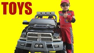 BIG SURPRISE PRESENT (3) AND TOYS REVIEW POWER WHEEL CARS OPENTOYSTV