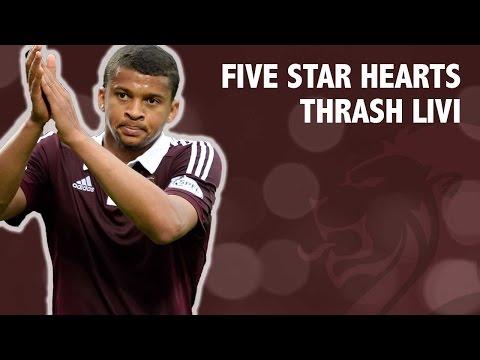 Five star Hearts thrash Livi