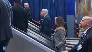 Donald Trump arrives at the UN to deliver 1st speech at General Assembly