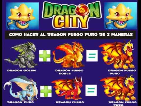 Dragon City Como Hacer El Dragon Fuego Puro De 2 Maneras (Leer Descripcion)