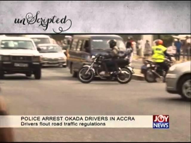 Police arrest okada drivers in Accra
