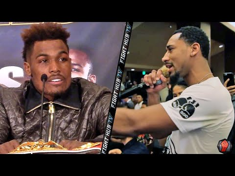 "Demetrius ""Boo Boo"" Andrade calls out Charlo brothers during press conference"