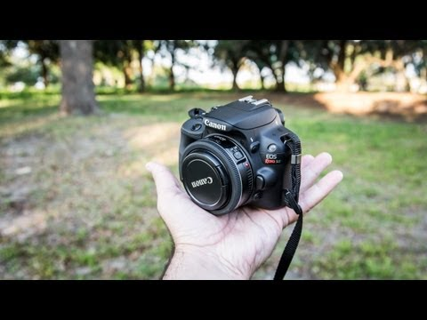 Canon SL1 / 100D Rebel Hands-On Review | with Canon 7D & Nikon D7100 low light comparison