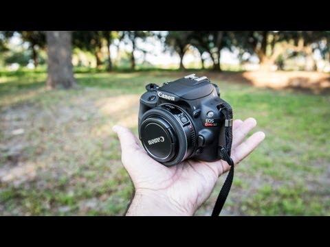 Canon SL1 / 100D Rebel Hands-On Review   with Canon 7D & Nikon D7100 low light comparison