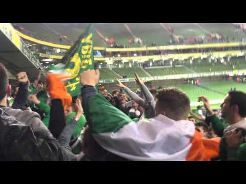 Irish Fans After Bosnia Game - Ireland v Bosnia - Ireland Qualify for Euro 2016