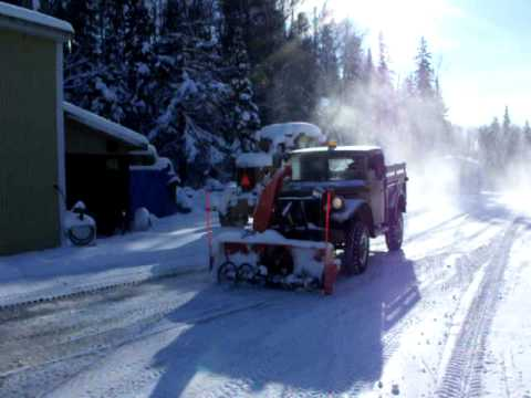 Dodge M37 PTO Snow Blower - YouTube