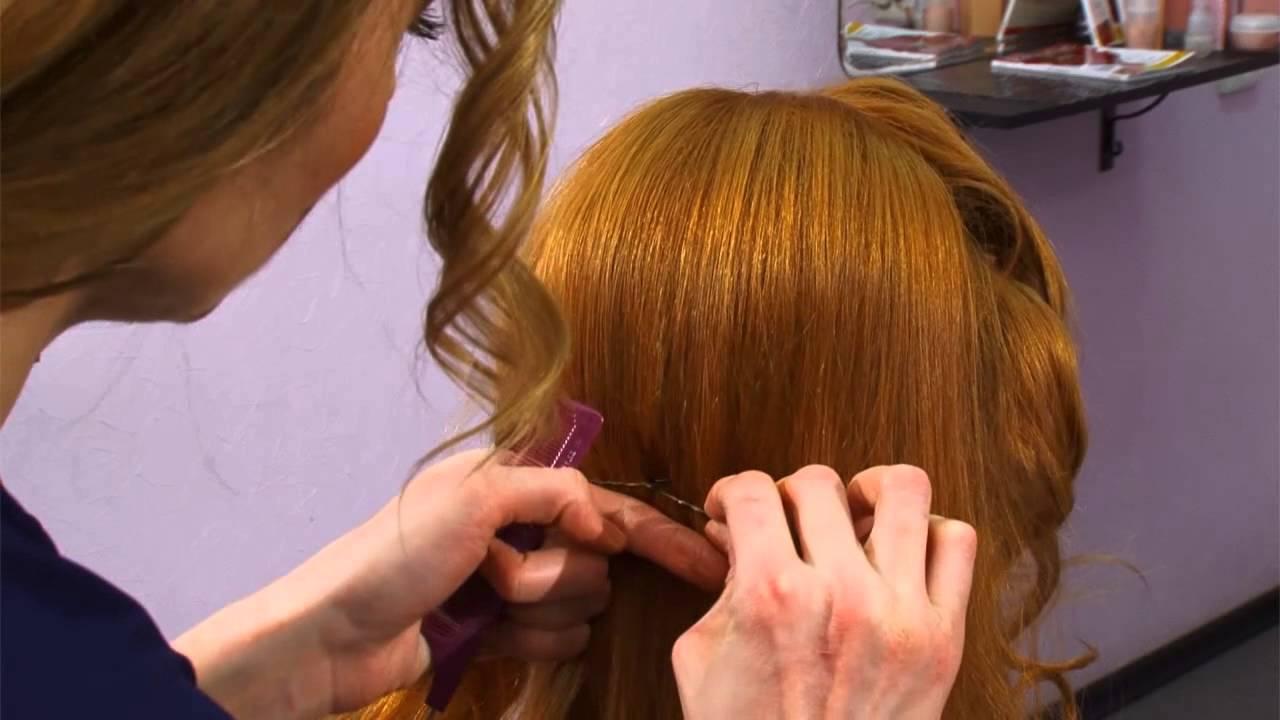 Как сделать праздничную укладку волос? Мастер-класс - YouTube