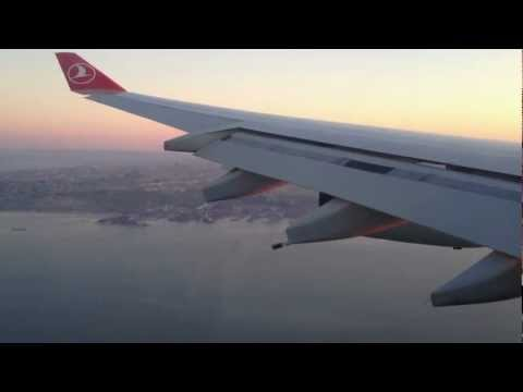 Thy (Turkish Airlines) Airbus A340-300 Landing in İstanbul