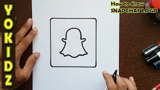 How to draw SNAPCHAT logo