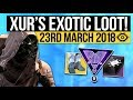 Destiny 2 | XUR LOCATION & EXOTICS! - ORPHEUS RIG! Exotic Weapon & Armor Inventory! (23rd March) MP3