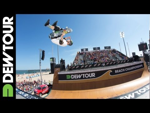 Pierre-Luc Gagnon 2nd Place Run: Skate Vert Final Dew Tour Beach Championships 2013