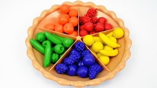 Sorting Pie Best Learning Video for Babies Kids - Learn Colors Counting Fruits