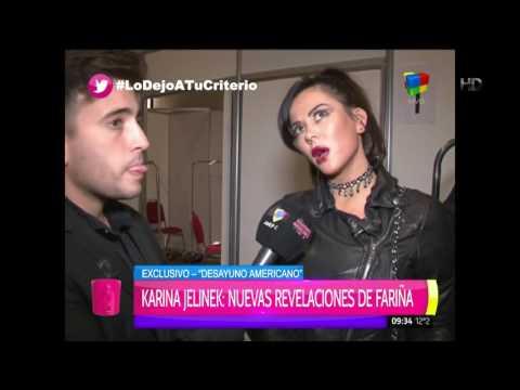"Karina Jelinek: ""Fariña desde que se separó de mí tuvo como 30 novias"""