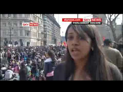 Sky News Interview: Tamil Protesters London Parliament Square