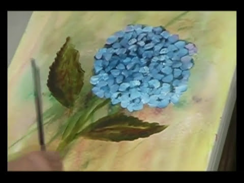 How to Paint a Hydrangea with Oil on Canvas