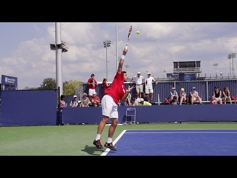 Stanislas Wawrinka Serve In Super Slow Motion - 2013 Cincinnati Open