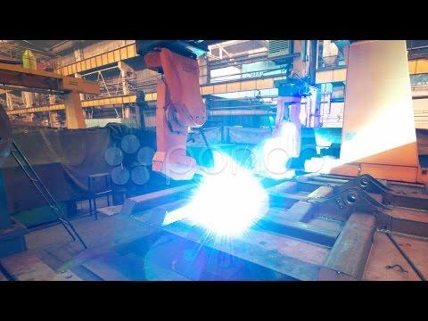 Welding Robot  Tl 2. Stock Footage