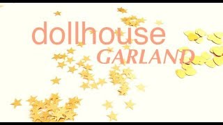 DIY garland How to make doll house mini garland room decorations dolls room decorations