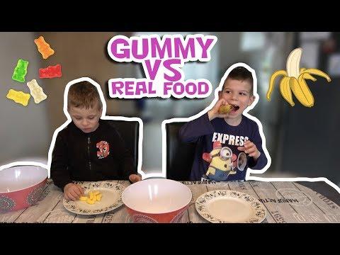 GUMMY VS REAL FOOD CHALLENGE !! - KOETLIFE VLOG #706 | Koet