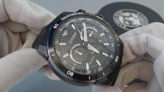 Men's Citizen Eco Drive Ecosphere Chronograph Watch CA4157 - 17E